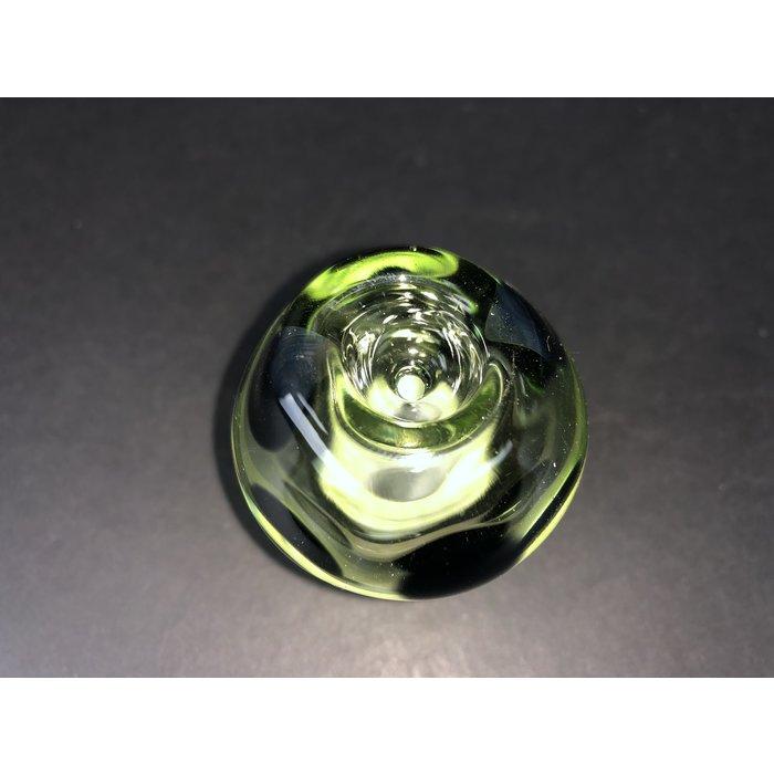 Transparent Green Mushroom 18mm Slide