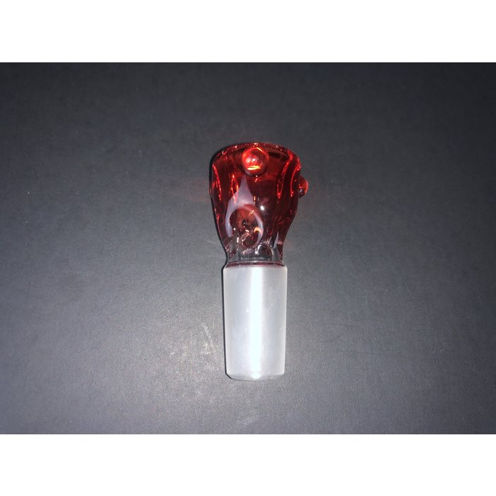 Mustard Glass Ice Pinch Slide 14mm Pomegranate