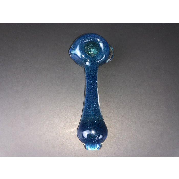 Matt White Glass Blue Spoon