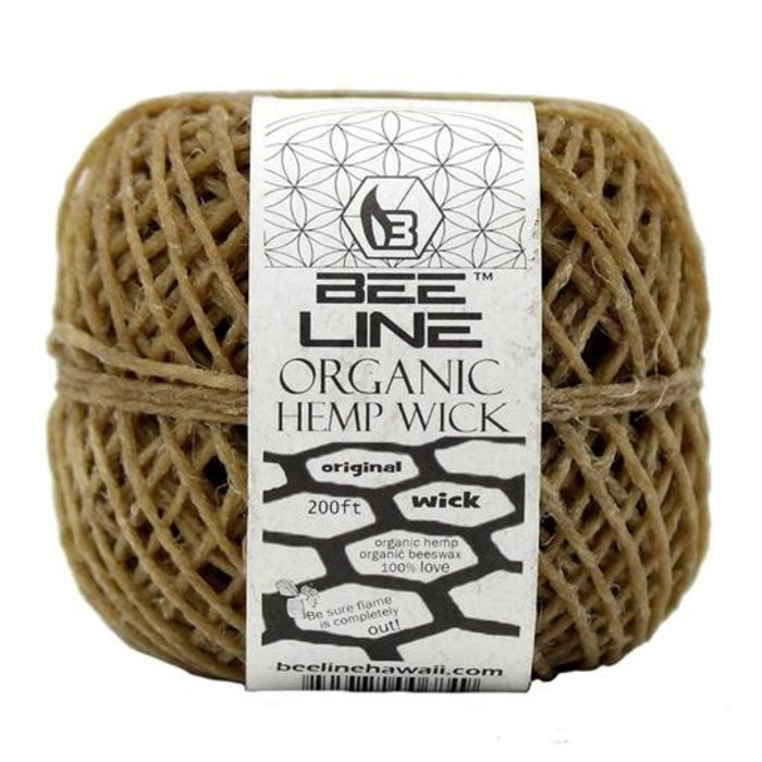 Organic Hemp Wick THIN Spools 200 Feet