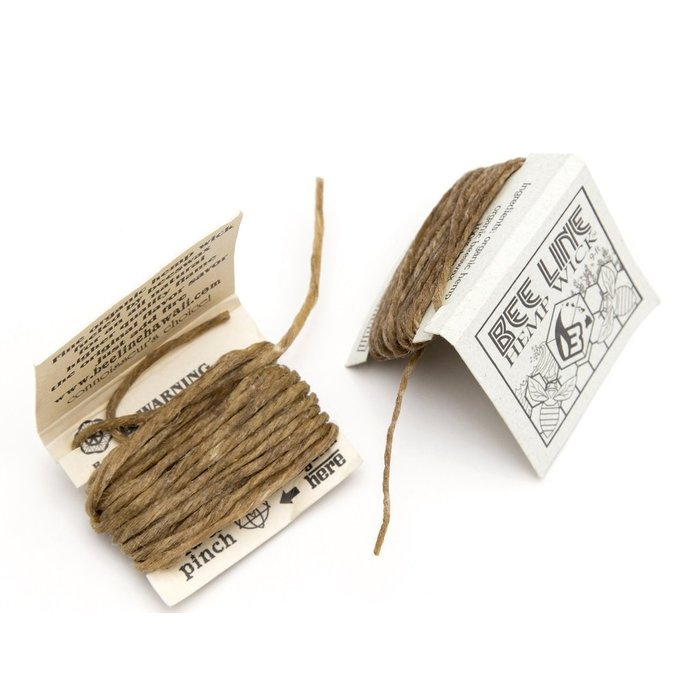 Bee Line Organic THIN Hemp Wick Pack 9 Feet