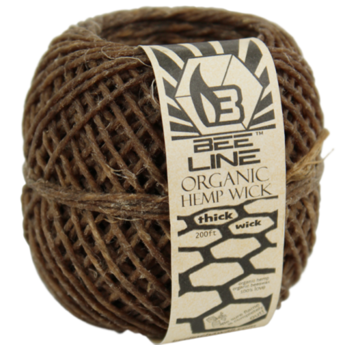 Bee Line Organic THICK Hemp Wick Ball 200 Feet