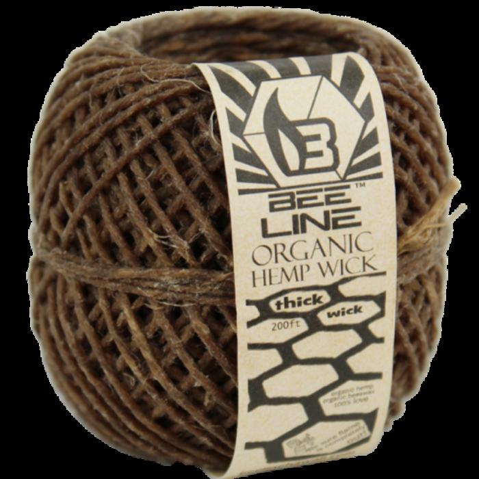 Bee Line Organic THICK Hemp Wick Ball 200 Ft