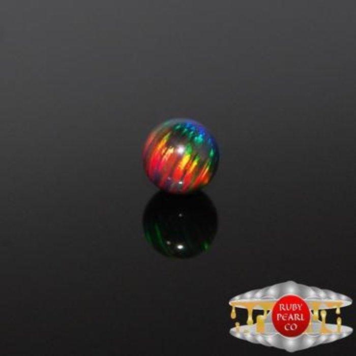 5mm Black Rainbow Opal Pearl 1Pack