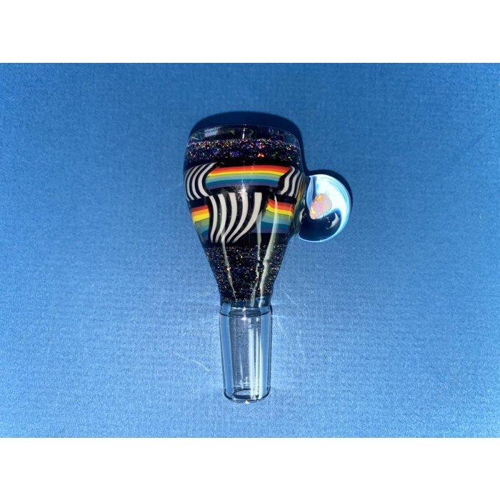 Jeremy 14mm 3-Hole Bowl w/ Opal Chip Stack #634