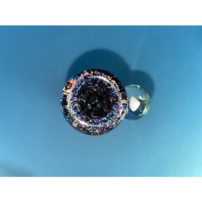 14mm 3-Hole Bowl w/ Opal Chip Stack #634