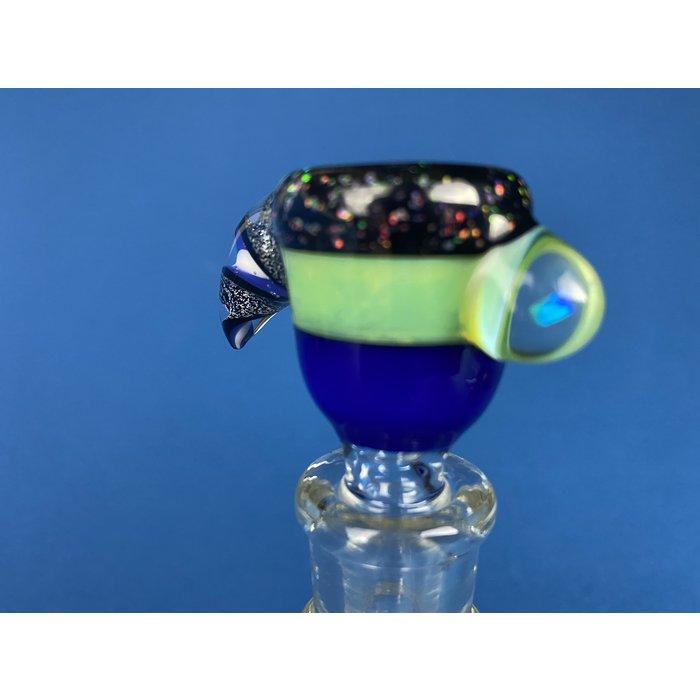 14mm 3-Hole Bowl w/ Opal #631