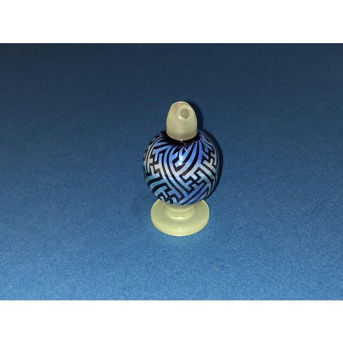 Fumed Sandblasted Spinner Bubble Cap #23
