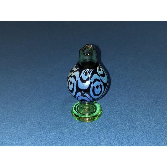 Pi_theglassblower Fumed Sandblasted Spinner Bubble Cap #25