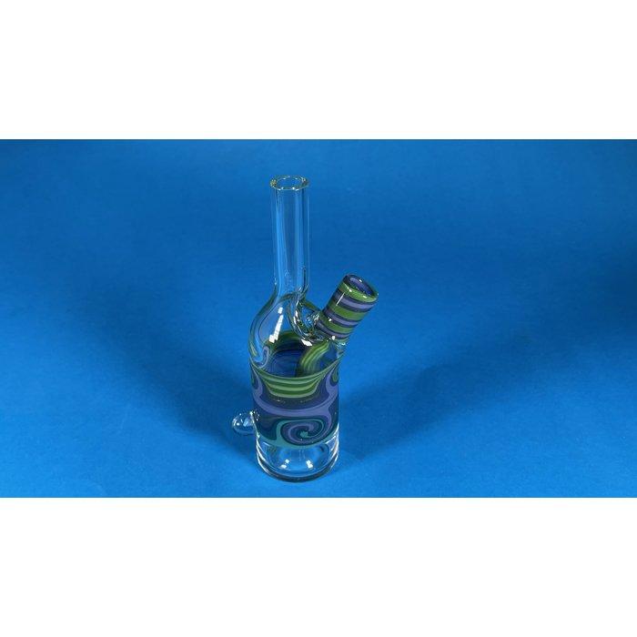 The Glass Mechanic 14mm Line Work Sake Bottle #4