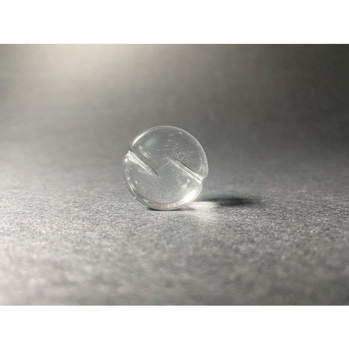 Rebelz Glass Clear Peak Spinner Disc-Cap