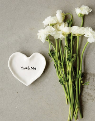 "Creative Co-op ""You & Me"" Heart Dish"