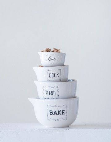 Creative Co-op Bake | Blend | Cook | Eat Measuring Cups