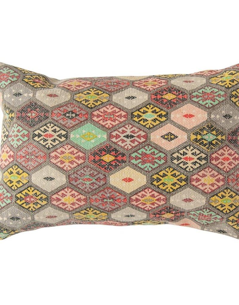 Creative Co-op Dhurrie Lumbar Pillow