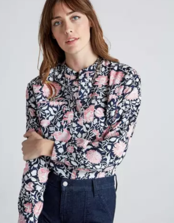 Lucky Brand Clothing Edie Floral Popover