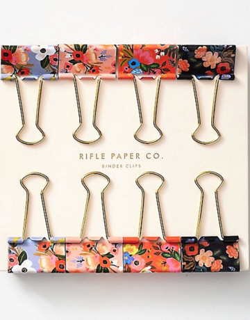 Rifle Paper Co. Binder Clips