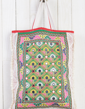 Lovestitch Embroidered Tote Bag Natl/Multi