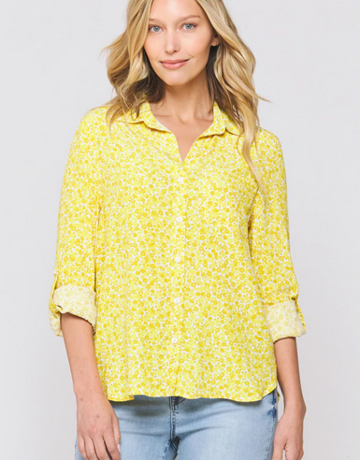 Velvet Heart Elisa Yellow Ditsy Top