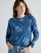 Lucky Brand Clothing Lucky Brand Indigo Floral Sweatshirt