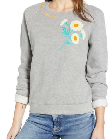 Lucky Brand Clothing Fresh as a Daisy Applique Sweatshirt