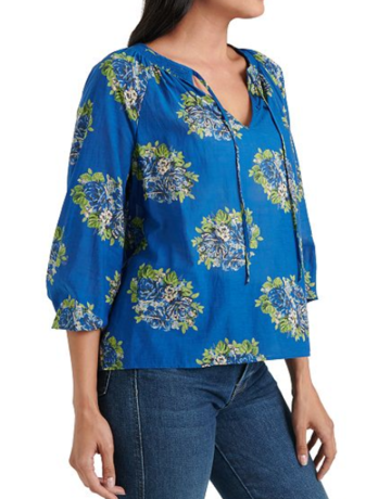 Lucky Brand Clothing Lyla Printed Floral Top