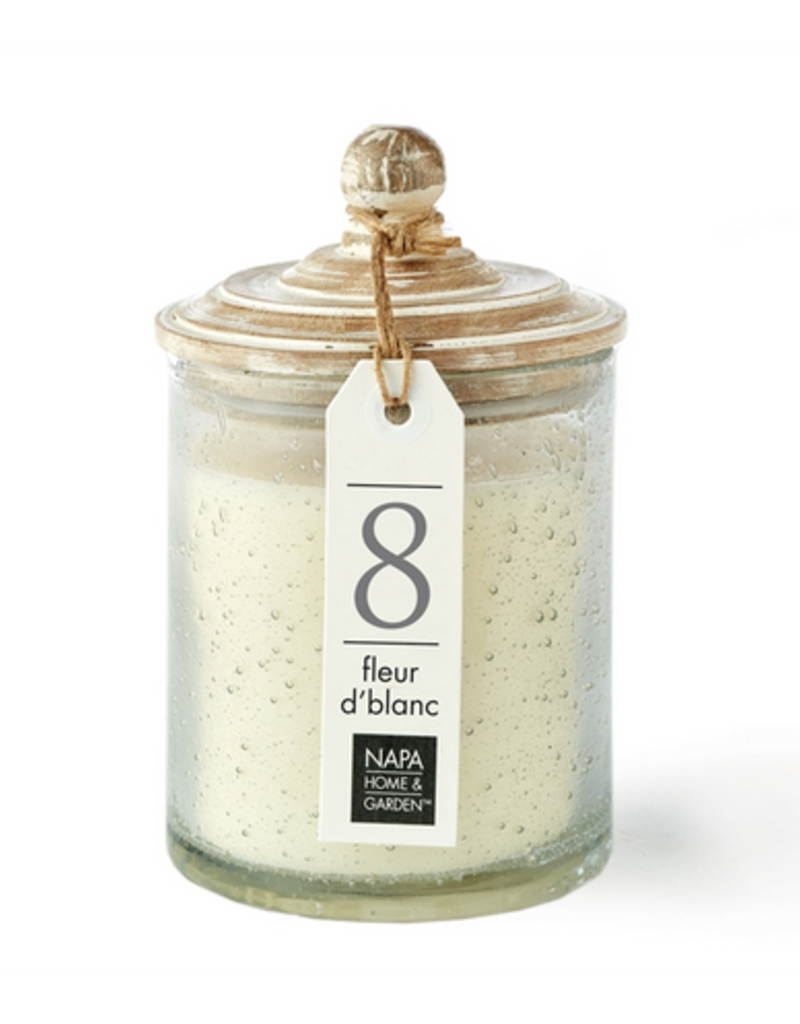 Napa Home & Garden Gray Oak Soy Wax Candle-50+ hr burn time
