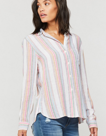 Velvet Heart Rainbow Bennett Stripe Top