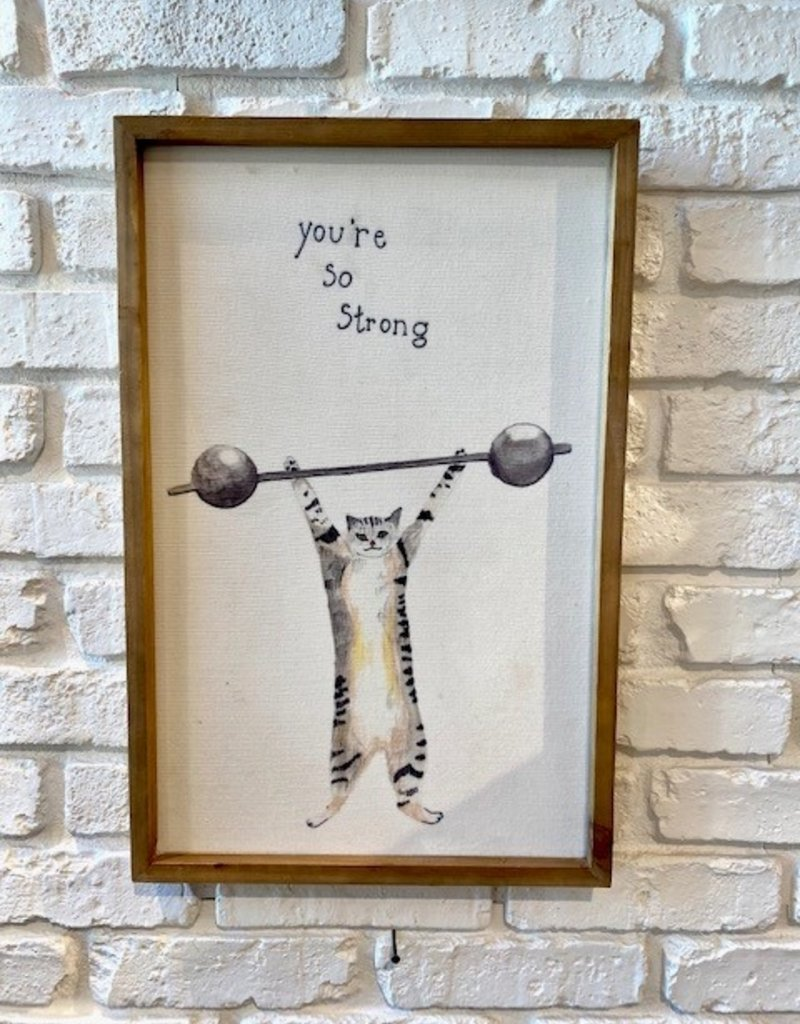 Creative Co-op Wood Framed Art with Inspirational Sayings