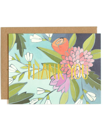 1Canoe2 Floral Foil Thank You Boxed Notes
