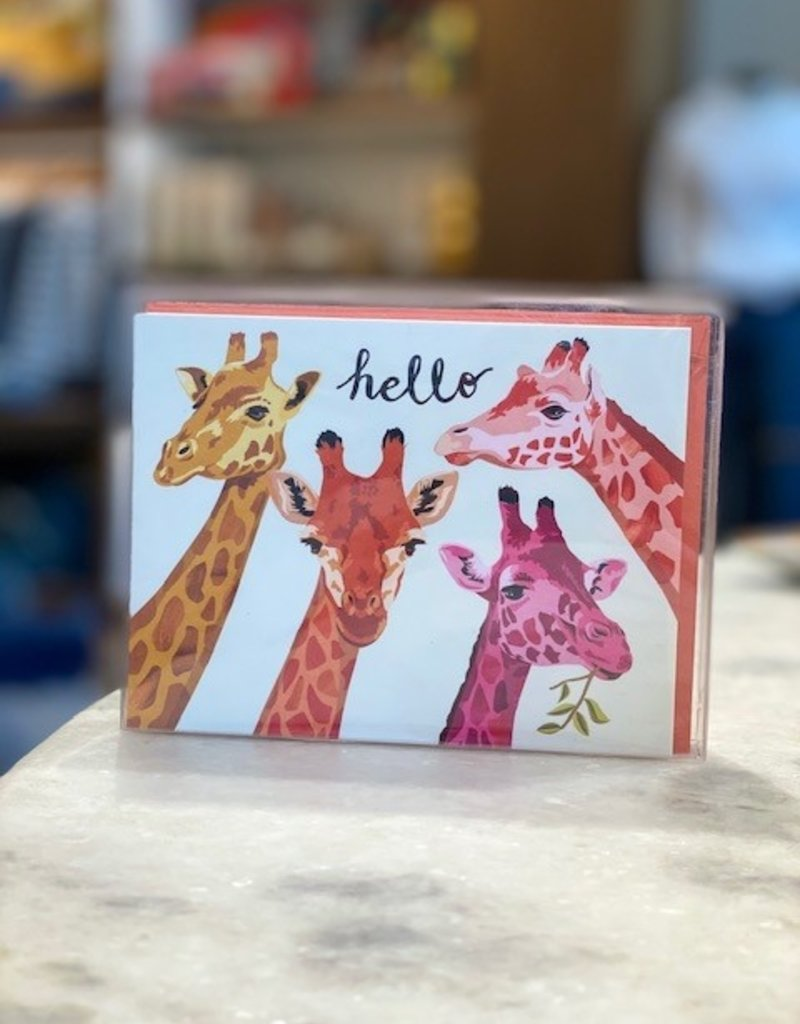 "Waste Not Paper Waste Not Paper ""Hello"" Giraffes Set of 10"