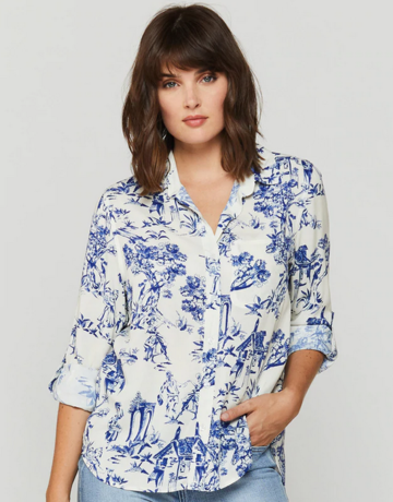 Velvet Heart Elisa Blue Cottage Toile Shirt