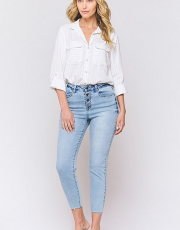 Velvet Heart Hallie High Rise Button Up Jean