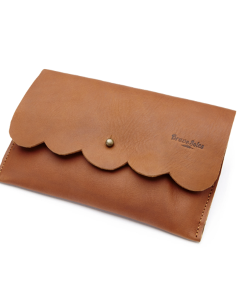 Brave Soles Brave Soles Paola Scallop Leather Clutch