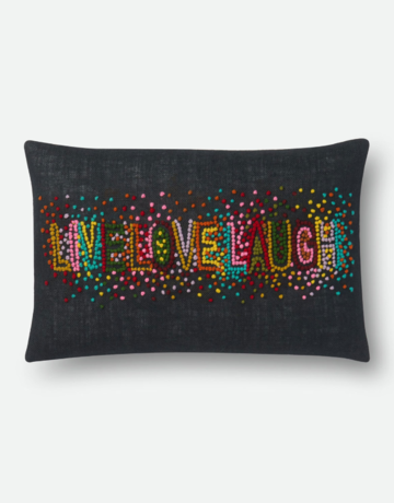 Loloi Rugs LIVE LOVE LAUGH Pillow