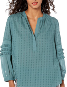 Lucky Brand Clothing Lucky Brand Ruffled Peasant Top