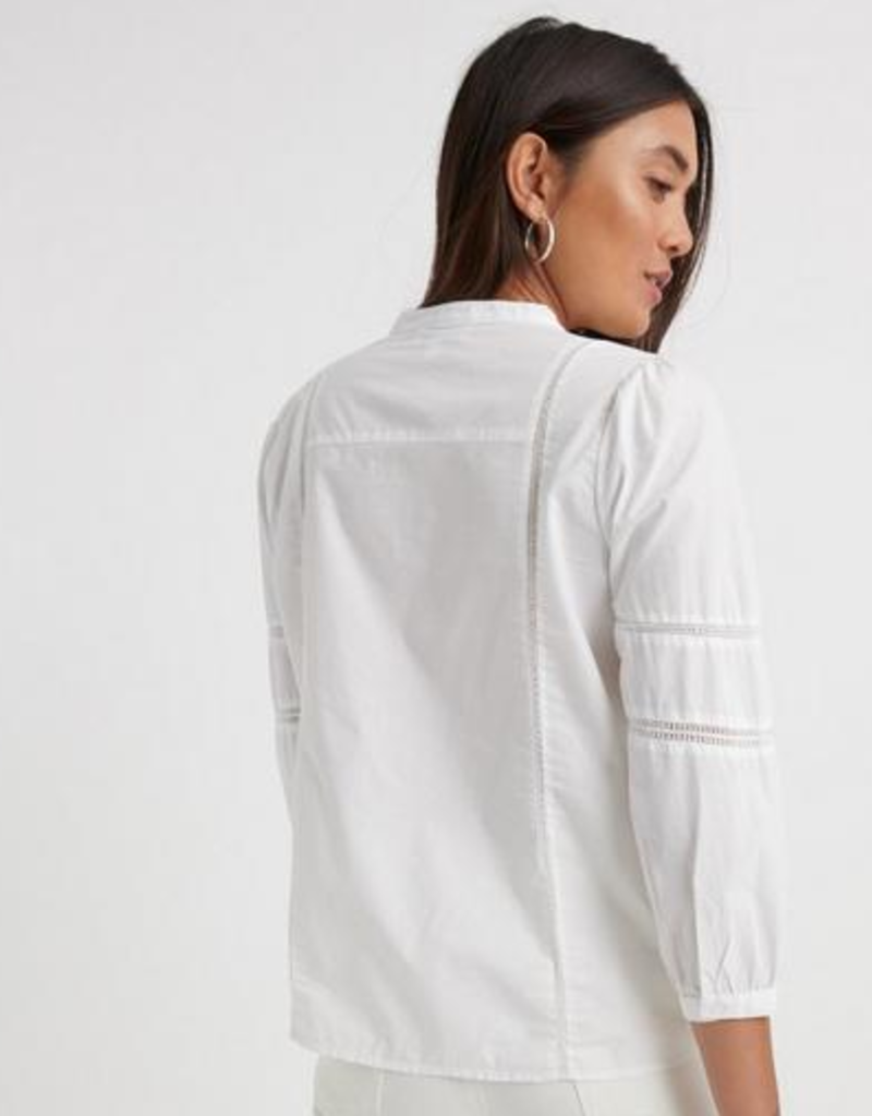 Lucky Brand Clothing Lucky Brand Poplin Peasant Top