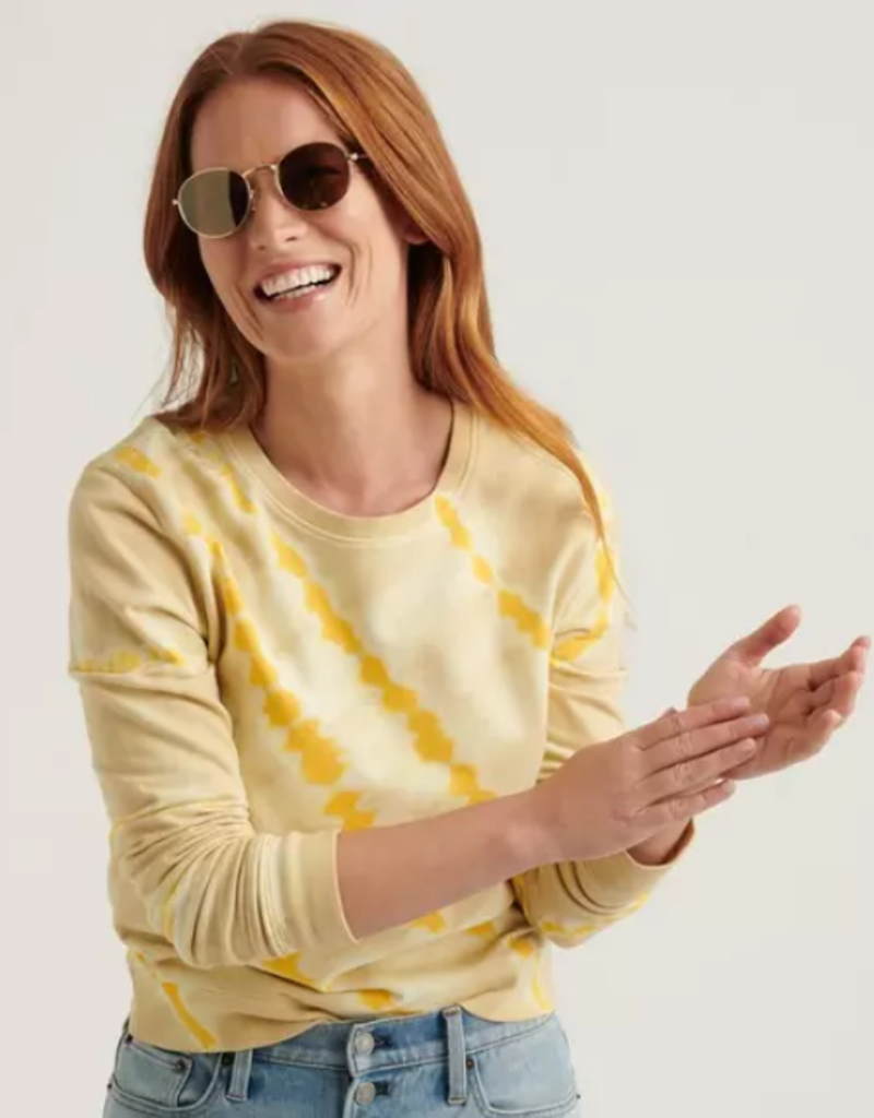 Lucky Brand Clothing Lucky Brand Tie Dye Yellow Pullover