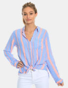 Dylan / True Grit Dylan Bright Stripe Chambray Top
