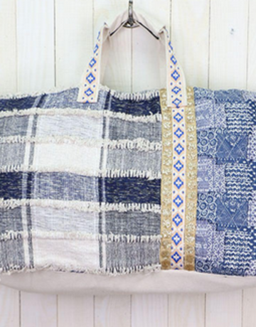Lovestitch Patchwork Denim Getaway Bag