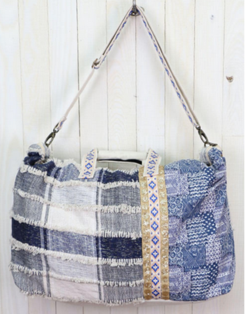 Lovestitch Lovestitch Patchwork Denim Getaway Bag