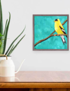 Greenbox Art Yellow Goldfinch Mini Framed Art 6x6
