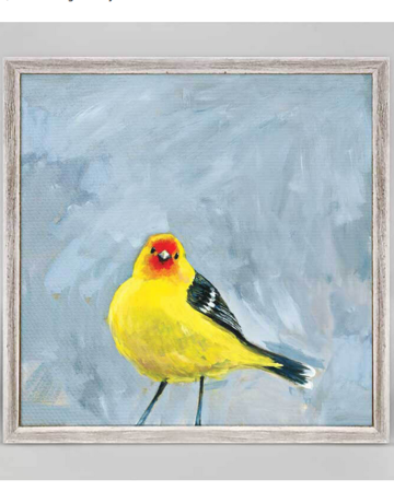 Greenbox Art Western Tanager Mini Framed Art 6x6