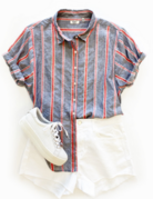 Dylan / True Grit Dylan Cove Stripe S/S Shirt