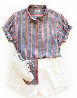 Dylan / True Grit Cove Stripe S/S Shirt