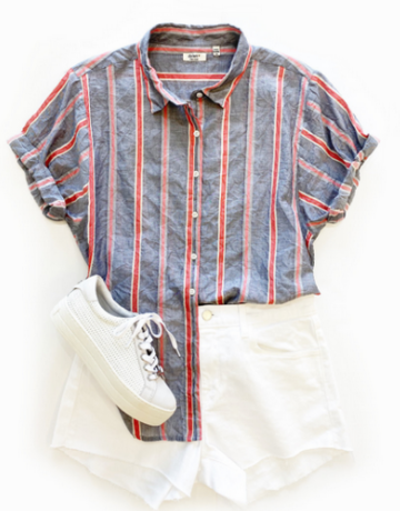 Dylan / True Grit Cove Stripe S/S Shirt
