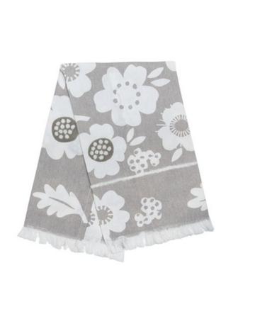 Foreside Handwoven Rynn Floral Tea Towel
