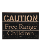 Foreside Foreside Free Range Children Wood Wall Decir
