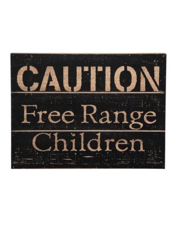 Foreside Free Range Children Wood Wall Decor