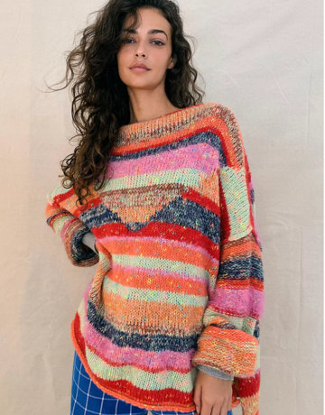 Free People String Lights Pullover Sweater