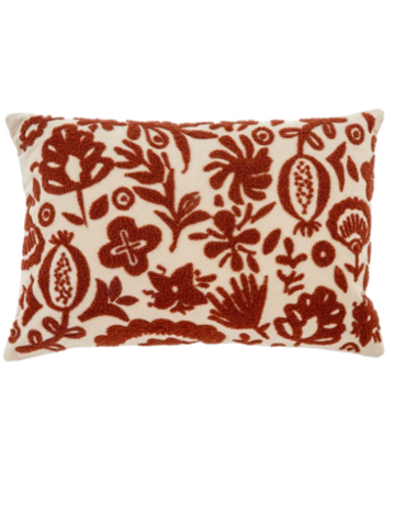 Indaba Trading Ltd New Guinea Pillow in Rust